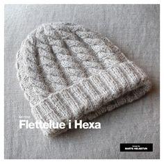 Flettelue i Hexa - Dame - Strikkeoppskrifter - Design by Marte Helgetun Knitting Accessories, Knitted Hats, Knit Crochet, Crafts, Creative Ideas, Knits, Design, Women, Mars