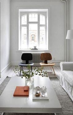 Via La Maison d'Anna G   Eames Lounge Chair Wood   White