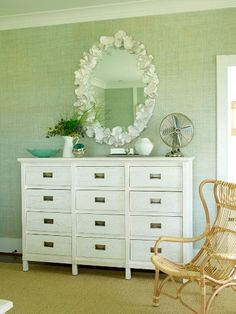 (via House of Turquoise: Coastal Living's Ultimate Beach House - Part 2) Love this mirror!