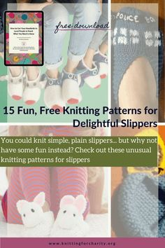 15 Fun Free Knitting Patterns for Delightful Slippers - Knitting for Charity Elf Slippers, Knitted Slippers, Knitting For Charity, Easy Knitting, Love Knitting Patterns, Free Fun, How To Make Notes, Knitting Projects
