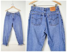 Levis Jeans 32, Mom Jeans, Vintage Clothing, 90s Clothing, 90s Jeans, Grunge Jeans, High Waisted Jeans, Grunge Clothing, Tapered Leg, Large by JusticeAndFreedom on Etsy https://www.etsy.com/listing/476885525/levis-jeans-32-mom-jeans-vintage