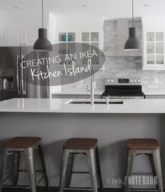 Creating an IKEA Kitchen Island | Pink Little Notebook