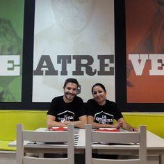 Diego Marcos y Anette Merino del restaurante taqueria La Quebradora (calle Princesa 3) #zaragoza