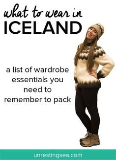 what to wear in Iceland