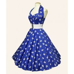 50s clothing via Polyvore sooooo wouldn't wear this but its so cute and had anchors!!
