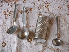 the sweetest vintage French doll's ladles and grater by vintagemaison on Etsy, SOLD