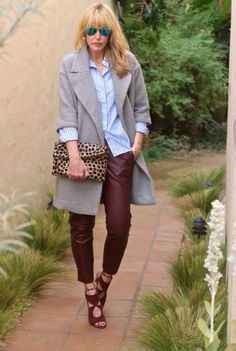 #jenknowsbest #jenandrews #wine #burgundy #leather #stripes #leopard #streetstyle #style @Madewell #blog #blogger #fashionblogger www.jenknowsbest.com