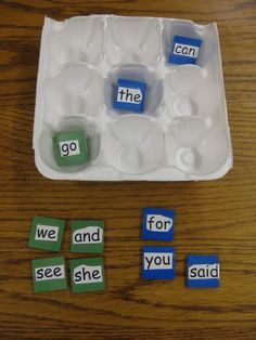 Sight Word Tic-Tac-Toe:  You can only play it if you can read it.  :)