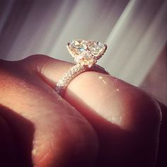 Rose Gold Engagement Ring - The Victoria Rose Setting