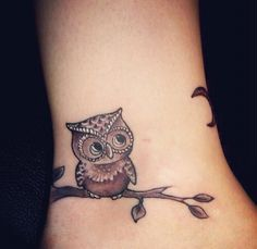 Mommy and Baby Owl Tattoos | Cute baby owl tattoo