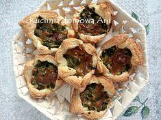 Kuchnia domowa Ani: Koszyczki z ciasta francuskiego ze szpinakiem i serem Feta, Tacos, Mexican, Ethnic Recipes, Mexicans
