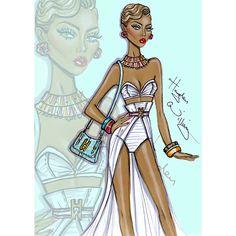 Fashion Illustrator Hayden Williams Sketches Top Model and Actress Eva Marcille http://instagram.com/p/b_up-4xHGS/