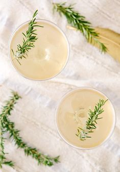 Fig and rosemary cocktails.