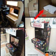 DIY Life Hacks & Crafts : DIY Nintendo Wii Arcade Machine | DIY Home Hacks