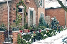 German Village Columbus Ohio at Christmas.