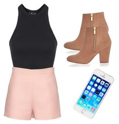 """""""Sin título #26"""" by carla-macias on Polyvore featuring moda, Topshop, Valentino, River Island, women's clothing, women's fashion, women, female, woman y misses"""