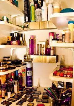 Coco Rocha's beauty cabinet