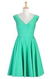 Vintage style poplin dress