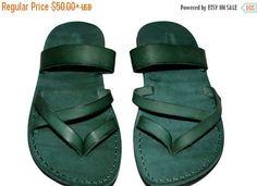 20% OFF Green Moon Leather Sandals for Men & Women Handmade