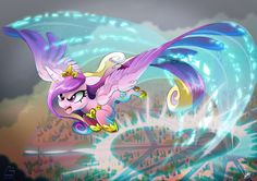 #1176138 - aerial view, angry, artist:dormin-kanna, background, charge, charging, colored, crystal empire, flight trail, flying, outdoors, princess cadance, regalia, safe, shit's getting serious, solo, sonic boom, spread wings, wallpaper, war face - Derpibooru - My Little Pony: Friendship is Magic Imageboard