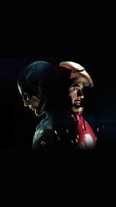 Captain America Civilwar Ironman Hero Art Illustration #iPhone #6 #plus#wallpaper