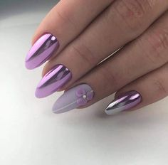 Top 60 Easy Nail Designs For Short Nails Elegant Nails, Classy Nails, Fancy Nails, Stylish Nails, Cute Nails, Pretty Nails, Purple Acrylic Nails, Purple Nail Art, Pink Nails