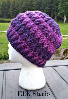 Christmas Present Bulky Weight Yarn Project #2 hat free crochet pattern