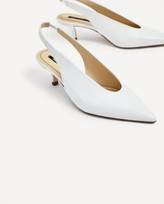 Image 1 of SLINGBACK LEATHER HIGH HEEL SHOES from Zara