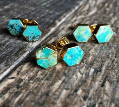 Turquoise EarringsTurquoise Earrings GoldTurquoise Stud