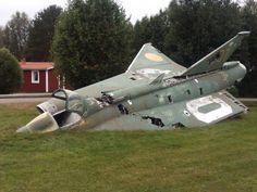 Former Royal Swedish Air Force SAAB 35 Draken (The Dragon)