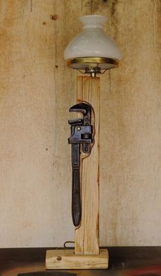 Cool Industrial handmade lamps #Concept #DIY #Farmhouse #Handmade #LightFixture #Metal #Recycled #Rustic #Steampunk Industrial Lighting made by old tools and wooden pieces. All are unique and handmade without the possibility to do the same lamp again... All the la...