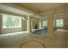 Indoor Pool, unfurnished, located at 15 North Church Road, Saddle River, NJ.    http://homesoftherichest.files.wordpress.com/2008/07/fm13.jpg