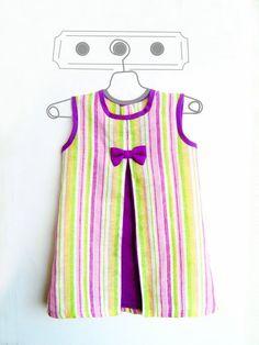 Precioso y elegante vestido para niña en 9 tallas. Fácil y rápido de confeccionar para estrenar vestido en pocas horas. *********************** DIF...