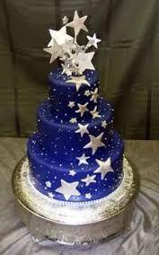 Resultado de imagen de pasteles de xv años azules