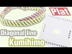 [305DIY]사각쿠미히모 플랫 사선무늬 팔찌만들기,plat Kumihimo diagonal line bracelets DIY...