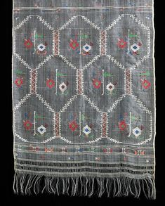 This Bulgarian folk ensemble features a variety of embroidery stitches and motifs and demonstrates an extraordinary intricacy overall. The other components in this ensemble include a blousea second skirt an aprona bodice, a belt and a stole Tiny Star, Textiles, My Heritage, Bulgarian, Fashion History, Embroidery Stitches, Bohemian Rug, Cross Stitch, Museum