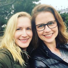 Jenna Fischer and Angela Kinsey hanging out