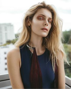Gorgeus Ola Kowal (@ szindy @modelpluswarsaw) for Jute Magazine in our necklace from DISSOLVE collection by Anna Orska.