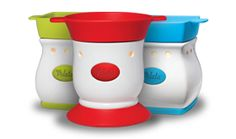 VELATA FONDUE WARMERS  Available in a variety of vibrant colors, Velata Fondue Warmers add a hip, fun element to any kitchen counter or dining room table.