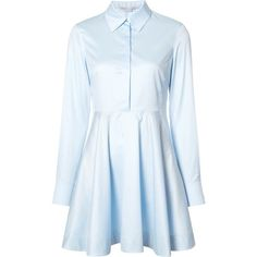 Stella McCartney Sia Cotton Dress (€375) ❤ liked on Polyvore featuring dresses, vestidos, blue, cotton day dress, cotton dress, stella mccartney dress, blue cotton dress and blue dress