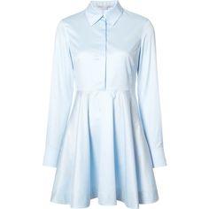 Stella McCartney Sia Cotton Dress (2.785 BRL) ❤ liked on Polyvore featuring dresses, blue, blue dress, cotton day dresses, stella mccartney, stella mccartney dresses and cotton dresses