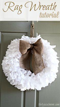 How to make a rag wreath.