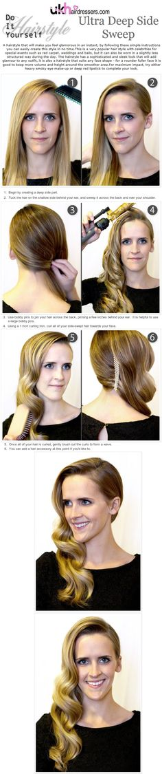DIY Hairstyles Ultra Deep Side Sweep
