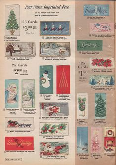 Check out these 1961 Christmas cards to help get you in the spirit of the Christmas Season!