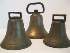 Unmarked Brass Bells SOLD
