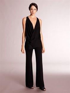 9df5f8e8f2ea  DonnaKaran SLEEVELESS CROSS DRAPE TOP