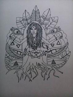 hoy me permito ser mediante lo que algunos testifican mientras otros mitifican  me permito volver a ser mujer chamana ancestral medicina divinidad escondida sucumbido está el mundo por el despertar de la heroína escuchando el rugir de la guerrera mítica.