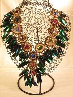Unique statement necklace. by MJ2IntDesigns on Etsy, $250.00