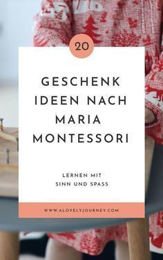 Gift ideas based on Maria Montessori: 20 useful gifts .- 20 simply good gift ideas according to Maria Montessori for children from Maria Montessori, Montessori Baby, Montessori Trays, Diy Gifts For Dad, Diy Gifts For Friends, Presents For Girls, Aunt Gifts, Gifts For Girls, Co Working