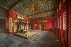 The palace where the empress dowager lives in China's Forbidden City——Shoukang Palace 寿康宫. Shoukang means longevity and well-being.  紫禁城杂志